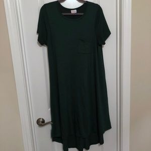 LuLaRoe Forest Green Carly High-Low Dress